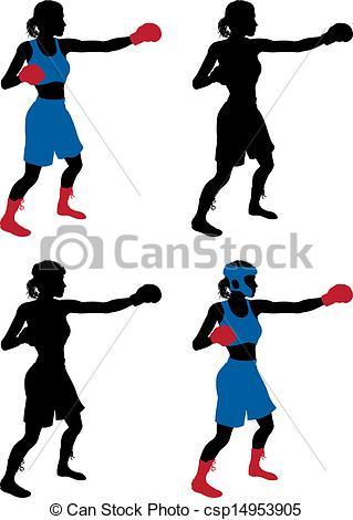 Female Boxing Clip Art