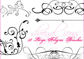 Filigree Photoshop Brushes Free