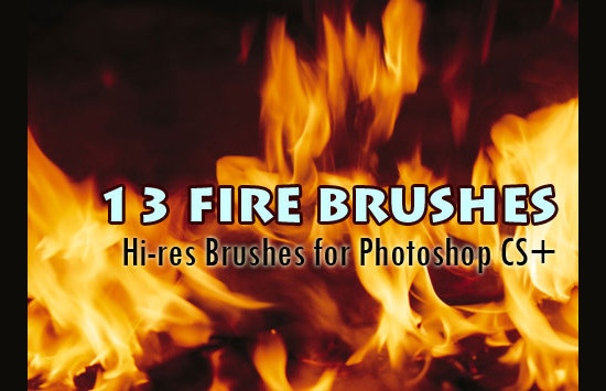 16 Fire PSD Brushes Images