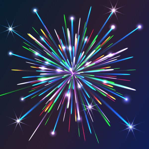 14 Vector Fireworks Tutorial Images