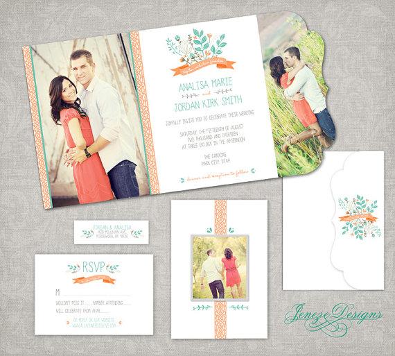 Folded Wedding Invitation Templates