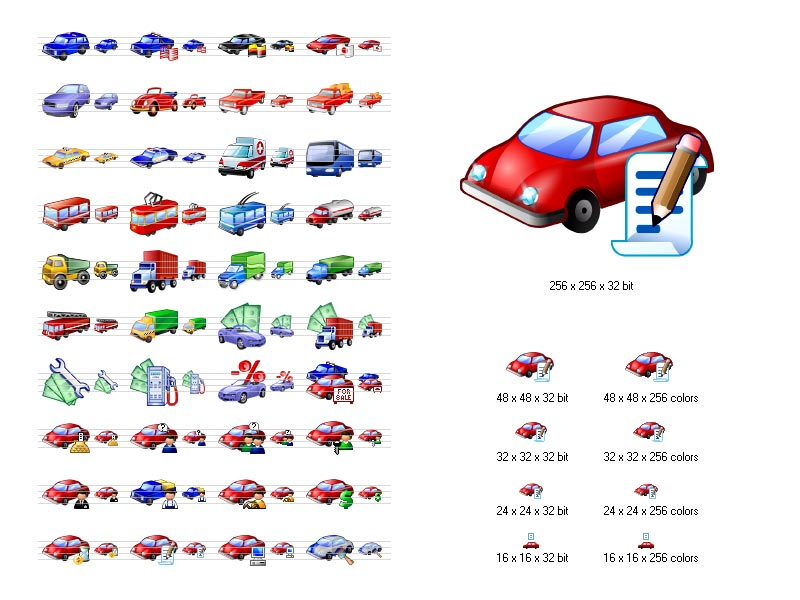 15 Car Icons Free Windows 7 Images