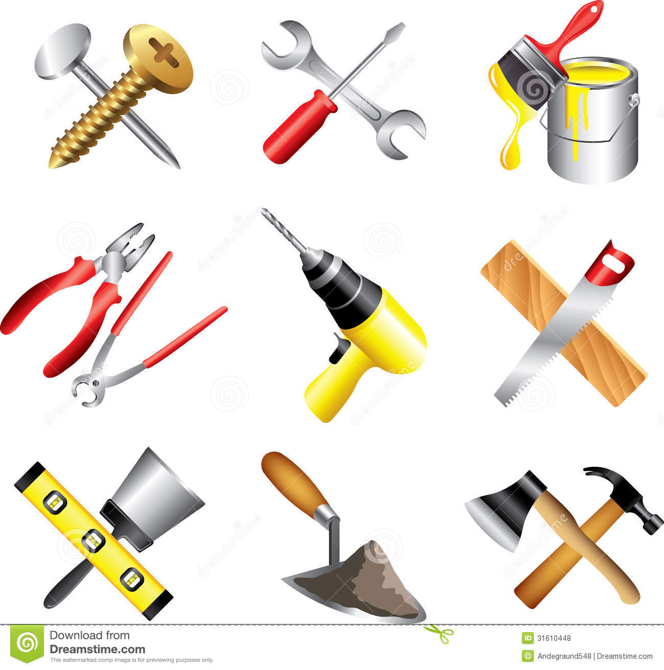 12 Construction Tools And Tool Box Icon Images - Tool Box ...