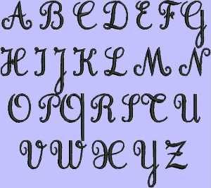 Free Cursive Embroidery Font