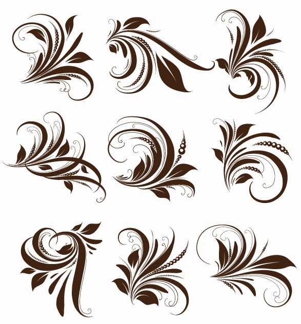 5 Vector Floral Design Flower Images