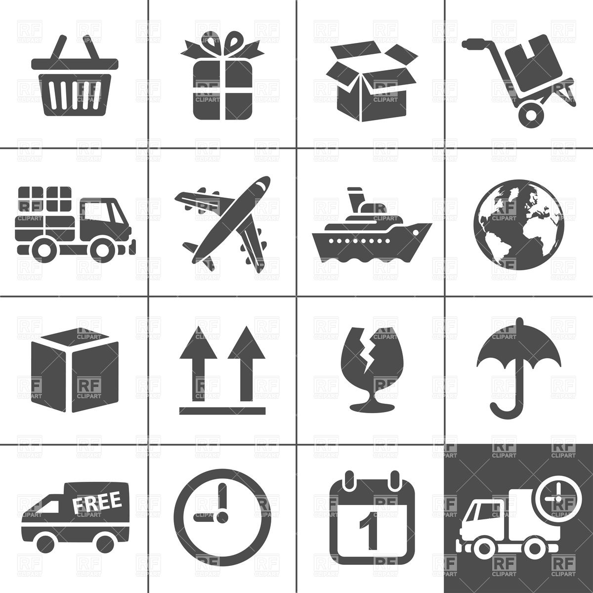 Free Logistics Icons and Clip Art
