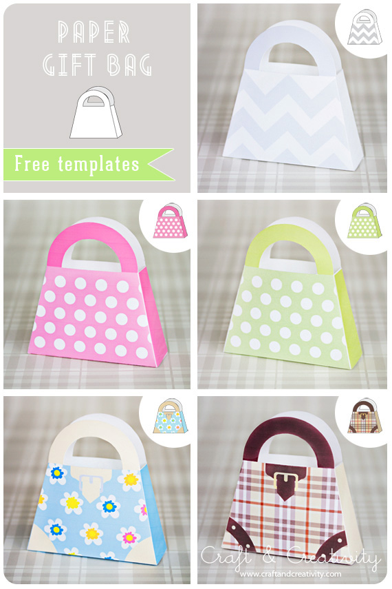 14 DIY Paper Bag Template Images