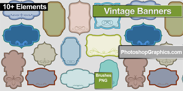 Free Photoshop Brushes Vintage Frames