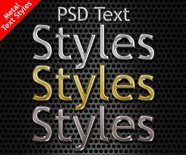 Free Photoshop Metal Styles