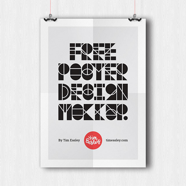 Free Poster Mockup Template