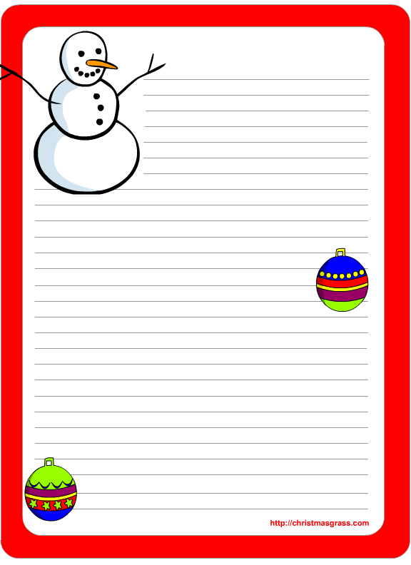 picture about Free Printable Christmas Letterhead called 19 Free of charge Printable Xmas Letter Templates Shots - Free of charge