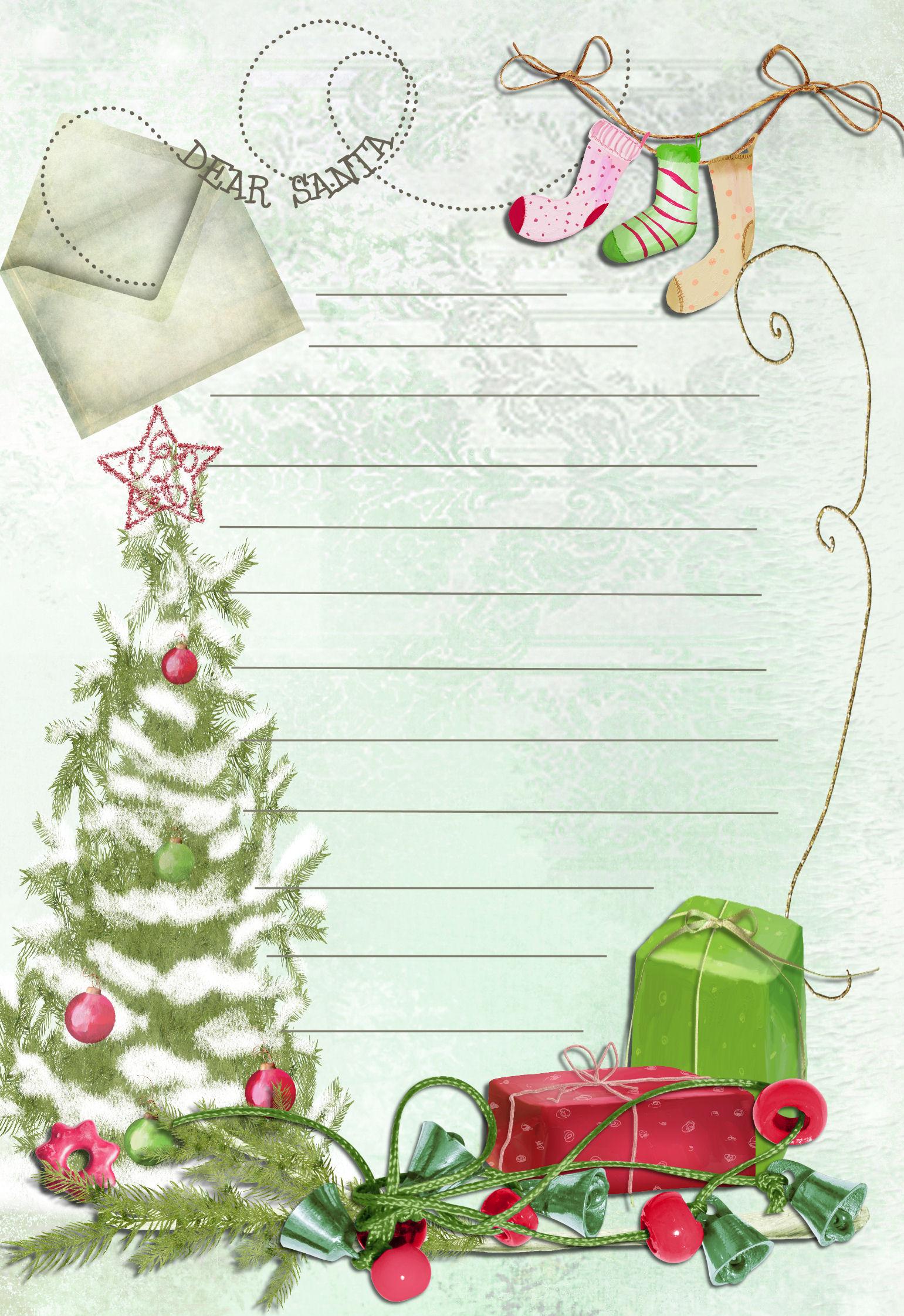 19 free printable christmas letter templates images free for Free christmas templates
