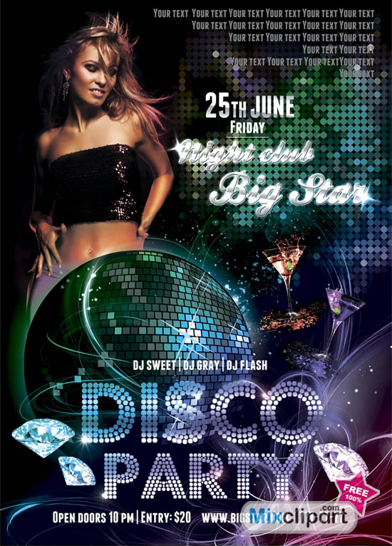 20 Party Flyer Psd Free Download Images Free Party Flyer Templates