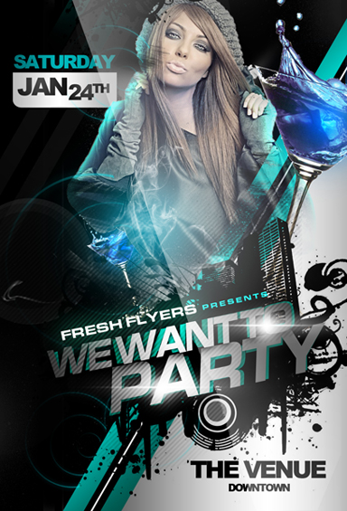 Party Flyer Templates Psd Free Download Choice Image Template