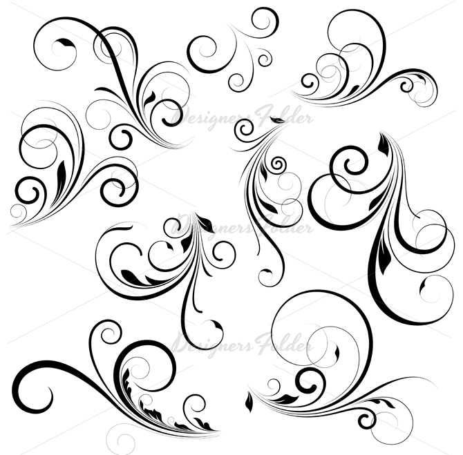11 Free Vector Swirls Brushes Photoshop Images - Photoshop Swirl