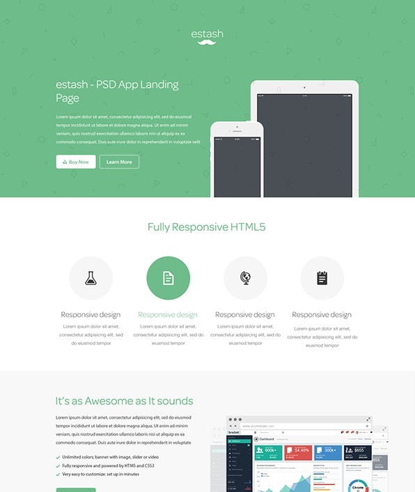 Free Web App Landing Page Template