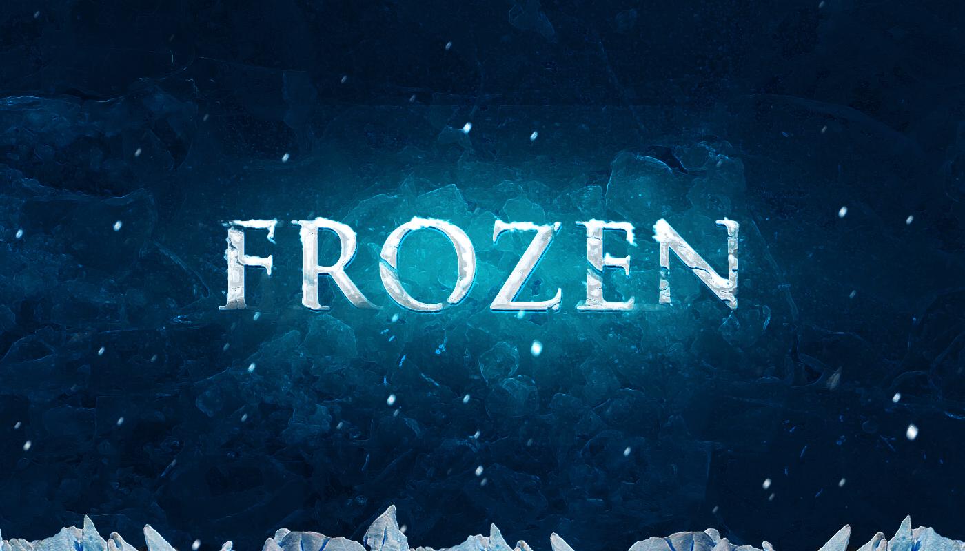 15 PSD Photoshop Frozen Text Images