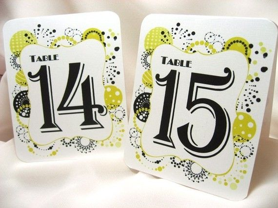 10 Table Number Fonts Images