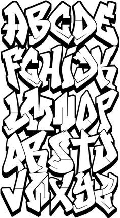 Graffiti Alphabet Bubble Letters