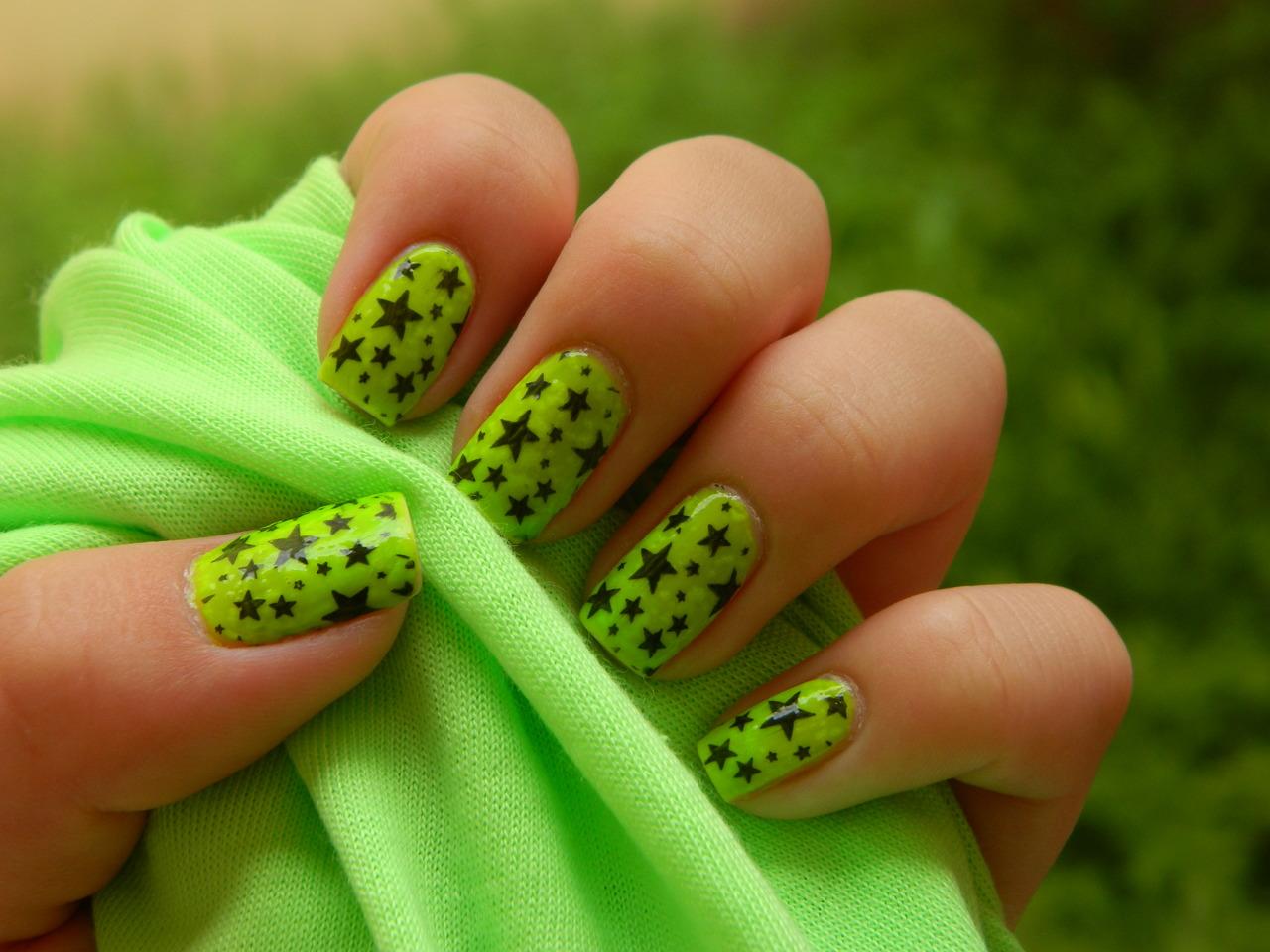 13 Green Nail Designs Images