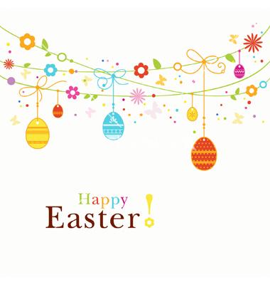 Happy Easter Border
