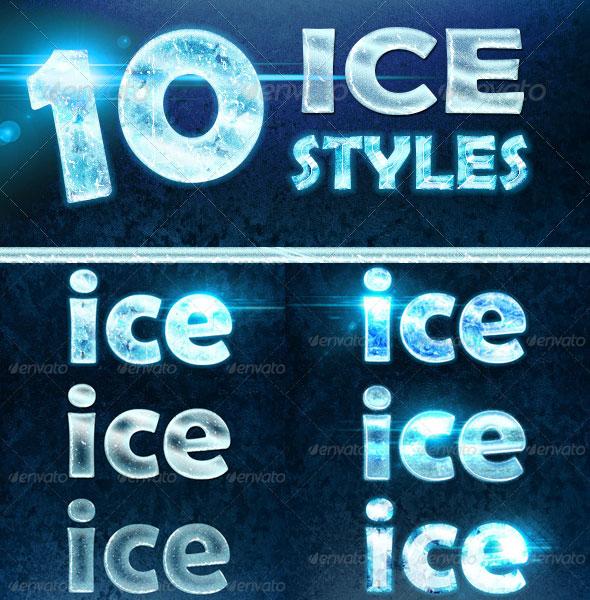 Ice Text Photoshop Style