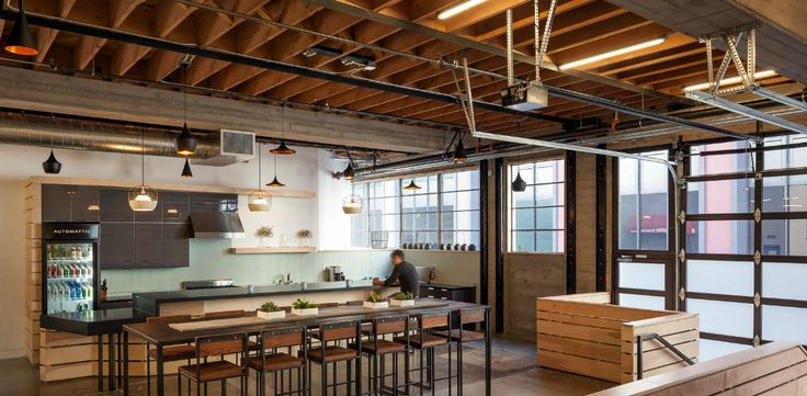 16 warm industrial interior design images industrial for Commercial space design