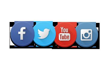 Instagram Facebook Twitter YouTube Logos