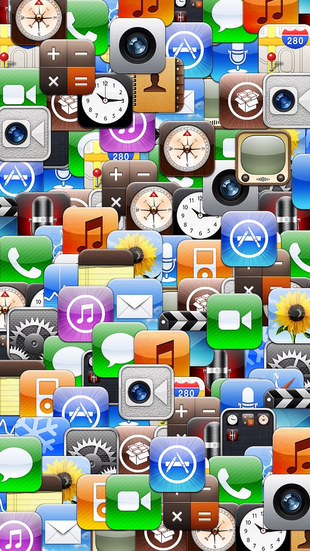 17 Collage Apple IPhone App Icons Images - Apple iPhone App