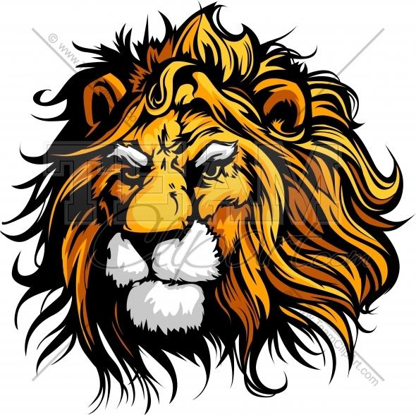 16 Lion Mascot Vector Images