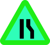 Merge Traffic Signs Clip Art