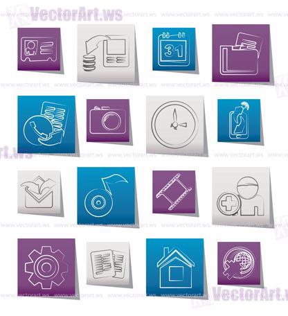 Mobile Phone Icon Website Menu