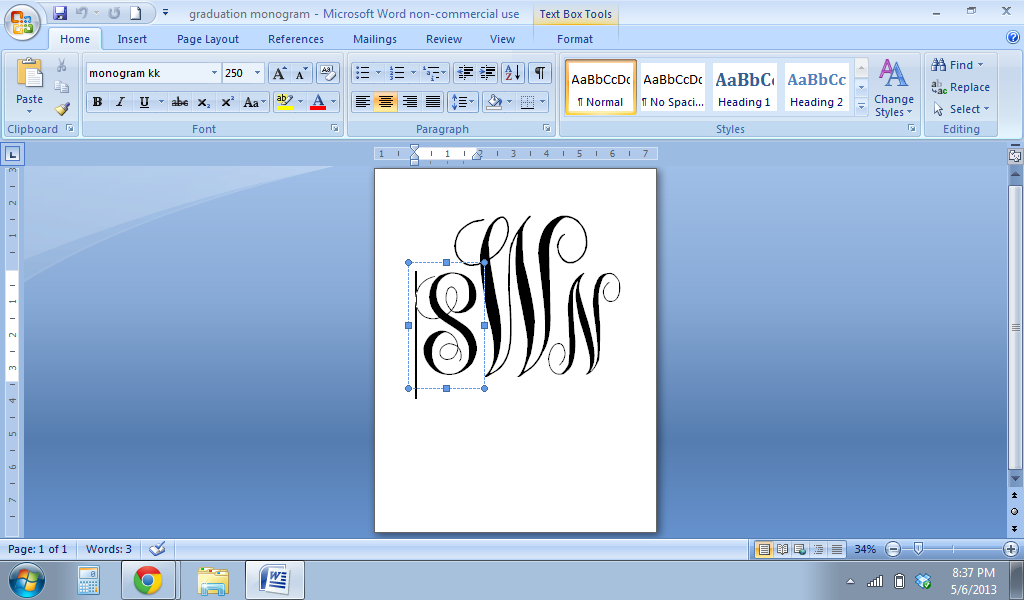 Monogram Fonts On Microsoft Word