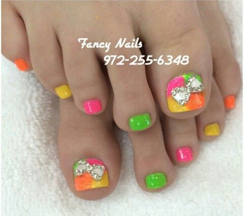 Neon Toe Nail Designs | Best Nail Designs 2018