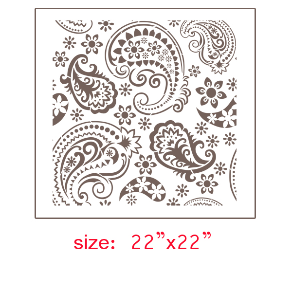 18 Stencils Of Paisley Design Images