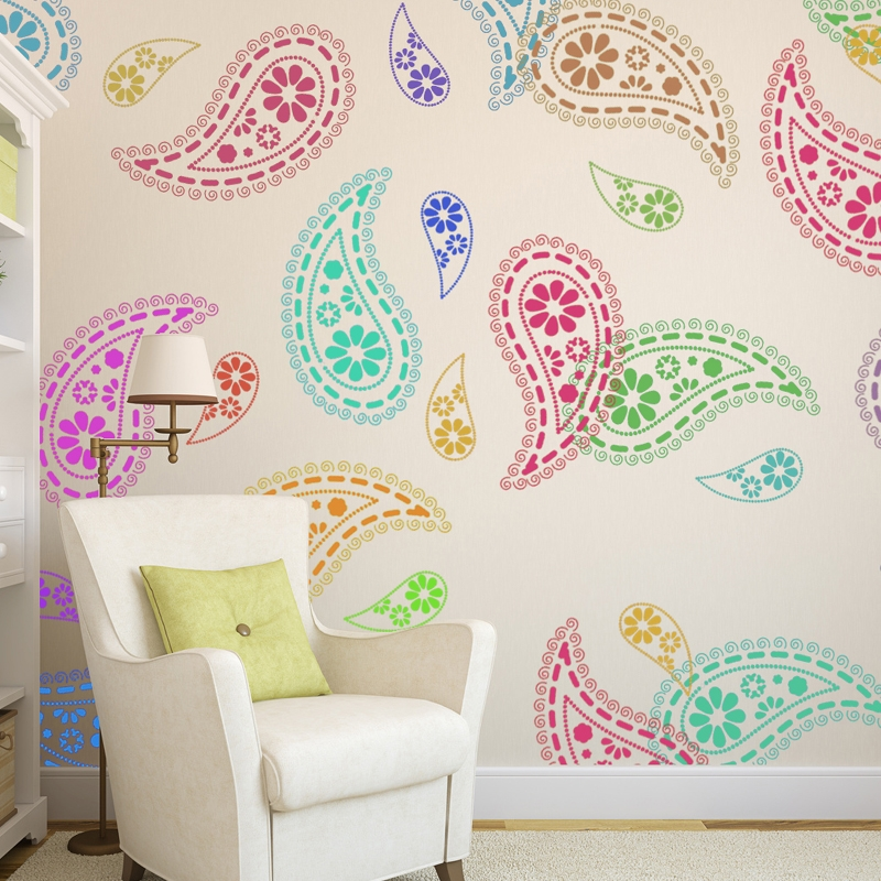Paisley-Stencil-Wall-Pattern