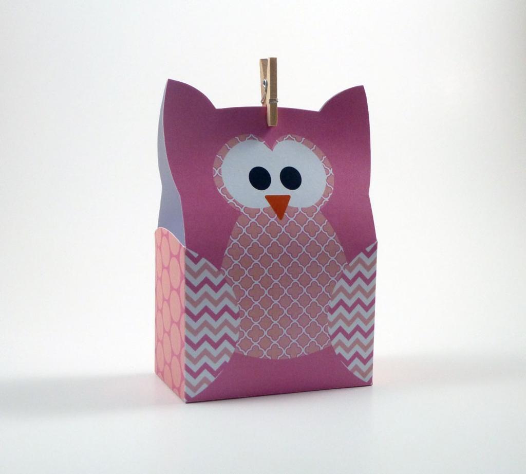 Paper Bag Owl Craft Template
