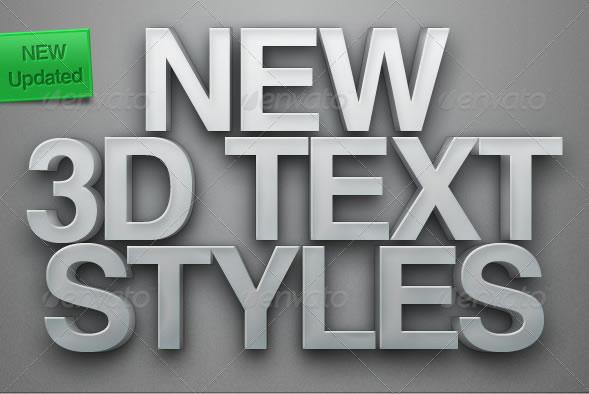 Photoshop 3D Text Styles
