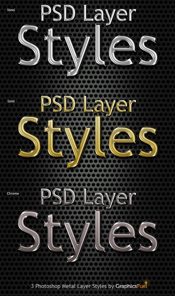 Photoshop Metal Styles
