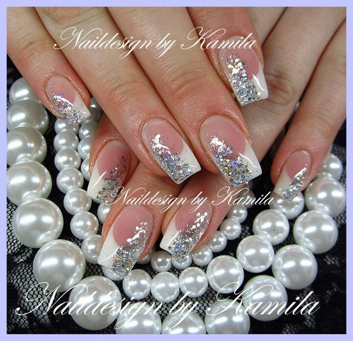 Pink White and Silver Nail Designs - 12 White And Silver Nail Designs  Images - Black - White And Silver Nail Designs Graham Reid