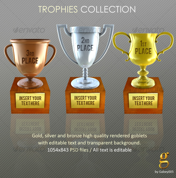 Platinum Gold Silver Bronze Trophies