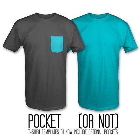 Pocket T-Shirt Templates Photoshop