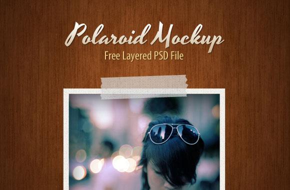 Polaroid PSD Mockups