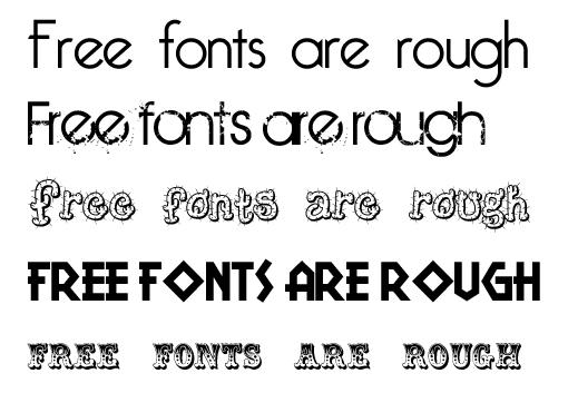 Pretty Word Fonts