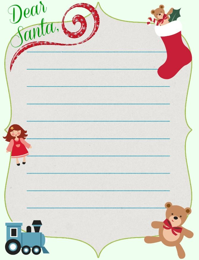 19 Free Printable Christmas Letter Templates Images Free Printable