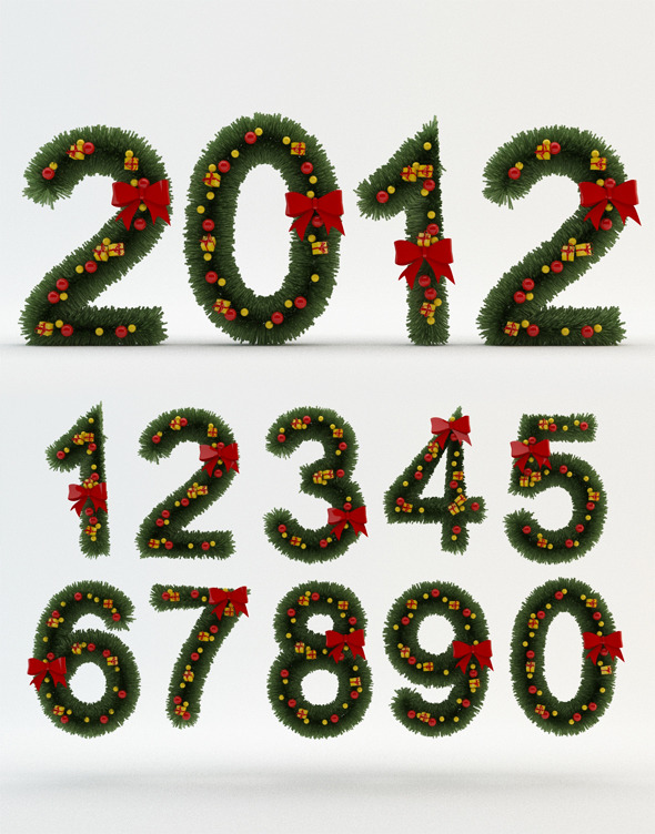 picture regarding Christmas Numbers Printable called 9 Xmas Quantities Font Photos - Xmas Script Font