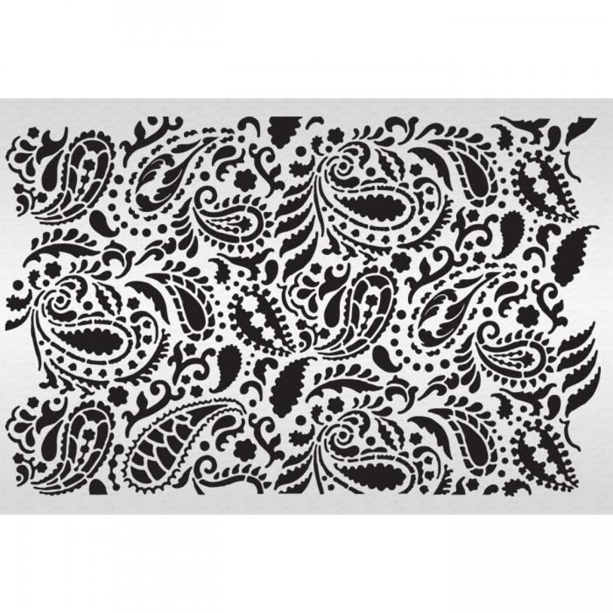 18 Stencils Of Paisley Design Images - Paisley Pattern ...