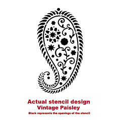 Printable Paisley Stencil Designs