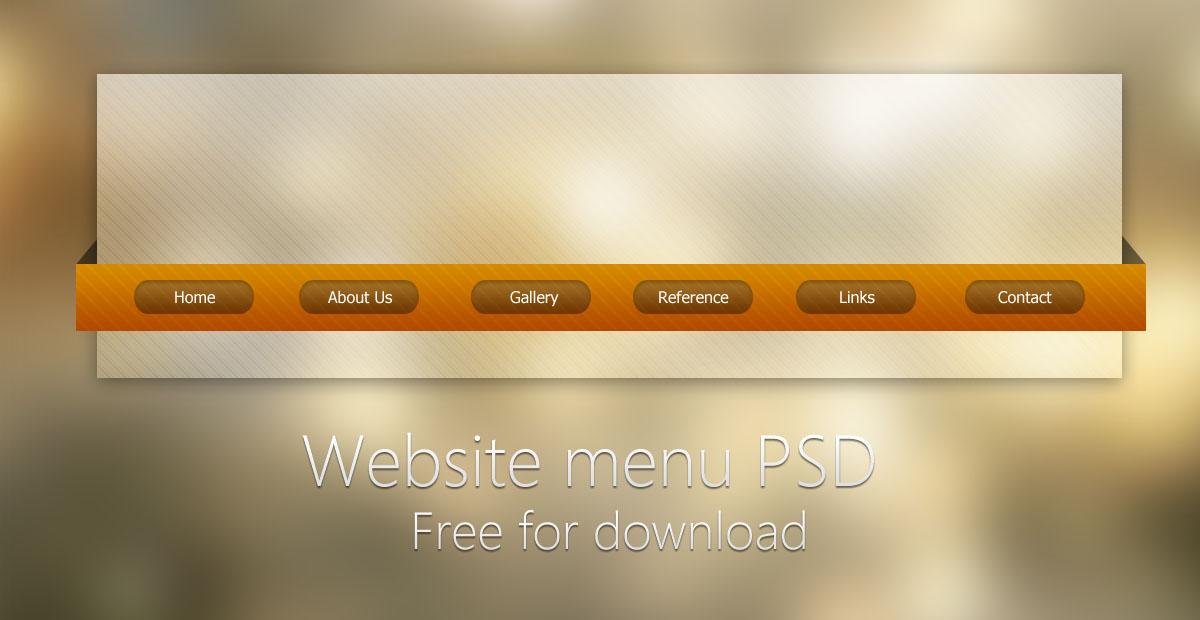 15 Web Menu PSD Images