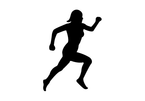 16 Running Woman Vector Silhouettes Images